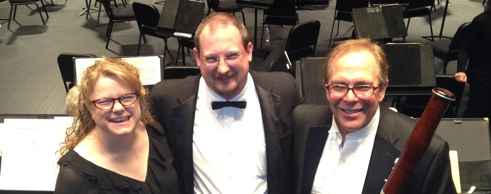 With colleagues from the Reno Philharmonic Orchestra Eric Fassbender (center) and Jeffrey Leep (right)