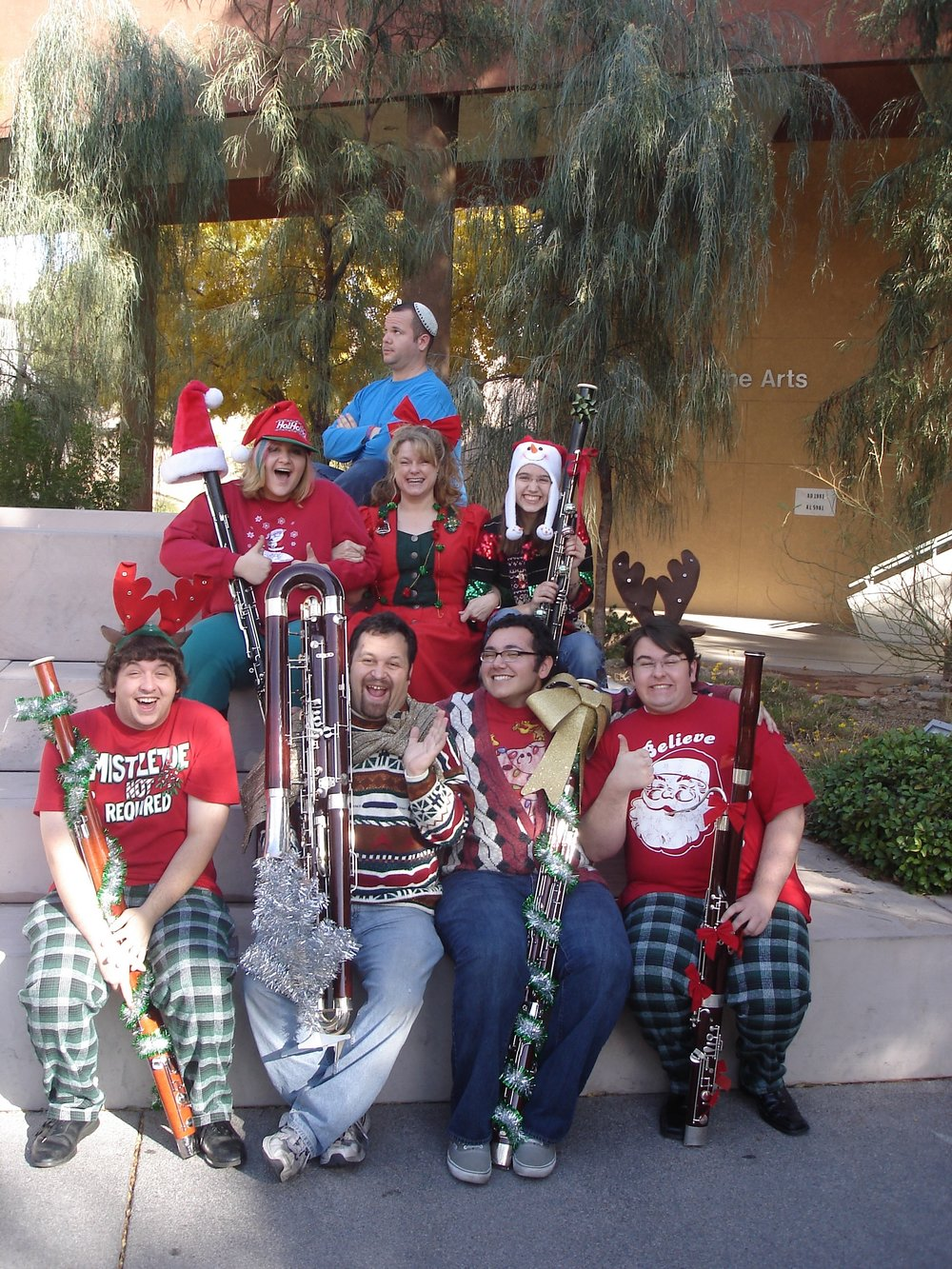 2011-2012 UNLV Bassoon Studio holiday card
