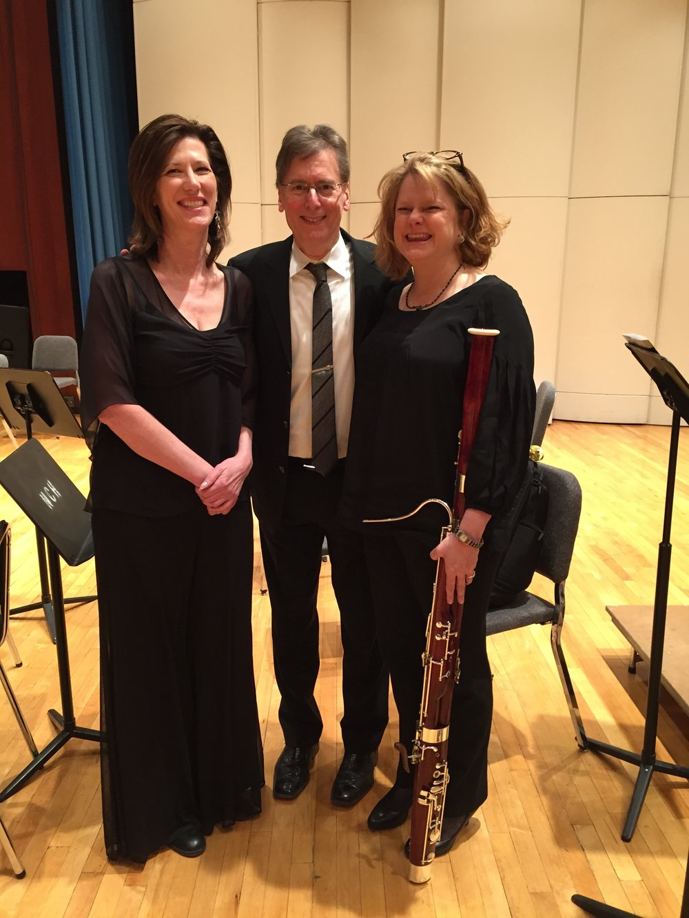 Mary Miller, flutist, and I with Robert Levin just after his amazing performances of the first three Beethoven piano concerti at the Reno Philharmonic (2015)