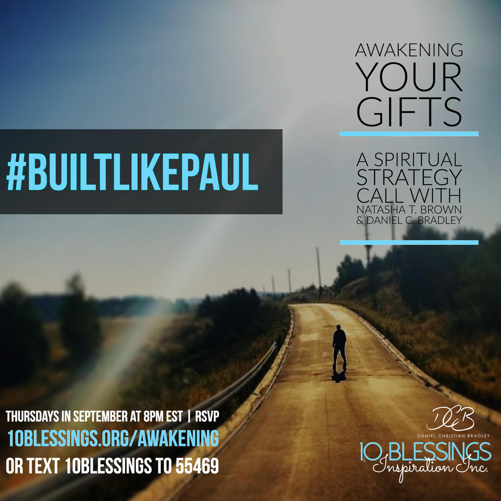Join us tonight for part 1 of #BuiltLikePaul hosted by Natasha T. Brown & Daniel C. Bradley.  Dial in at 8pm EST! 218-895-4502 pass: 3333#.