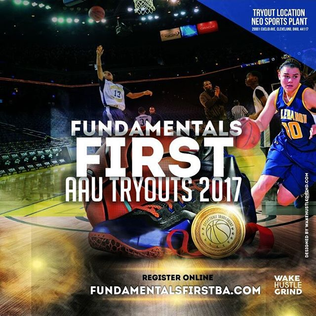 DON'T forget Fundamentals First Basketball Club AAU tryouts for boys 3rd-12th grade is being held this Saturday and Sunday (March 18th & 19th). REGISTER and secure your spot online at fundamentalsfirstba.com You have until tomorrow night. Don't miss out on the chance for your child to become more then just a better basketball player. Girls 3rd-12th grade tryout will be held next weekend (March 25th & 26th). #ffbc #basketball #education #ministry #youth #aau #mentoring #tryoutweek #aautryoutbasketball #basketballtryout #cleveland #community #euclidohio #neosportsplant #entrepreneurlife #followme #GETINVOLVED #makeadifferenceday