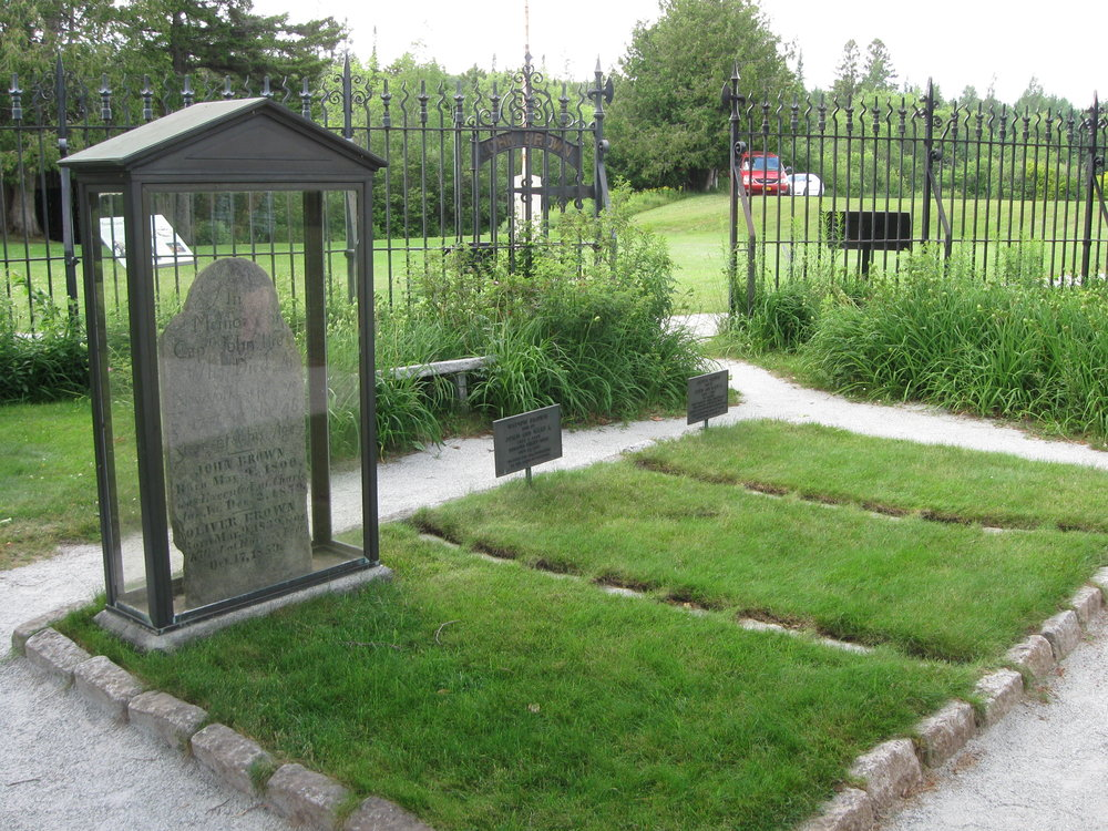 This is the actual grave where John Brown's body lies a-moulderin'.