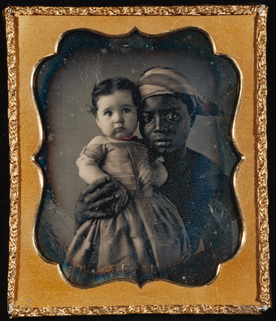 This woman was probably a slave, not an indentured servant, but the experience of having no choice but to care for someone else's children instead of your own probably feels the same.