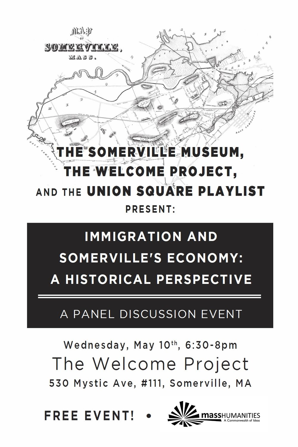 Immigration and Somerville Economy panel at the Welcome Project.jpg
