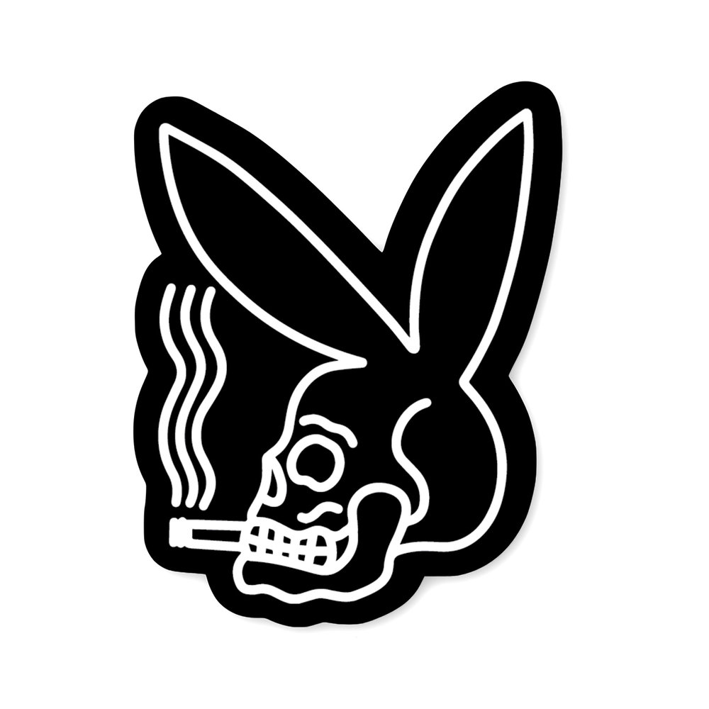 Playboy skull sticker