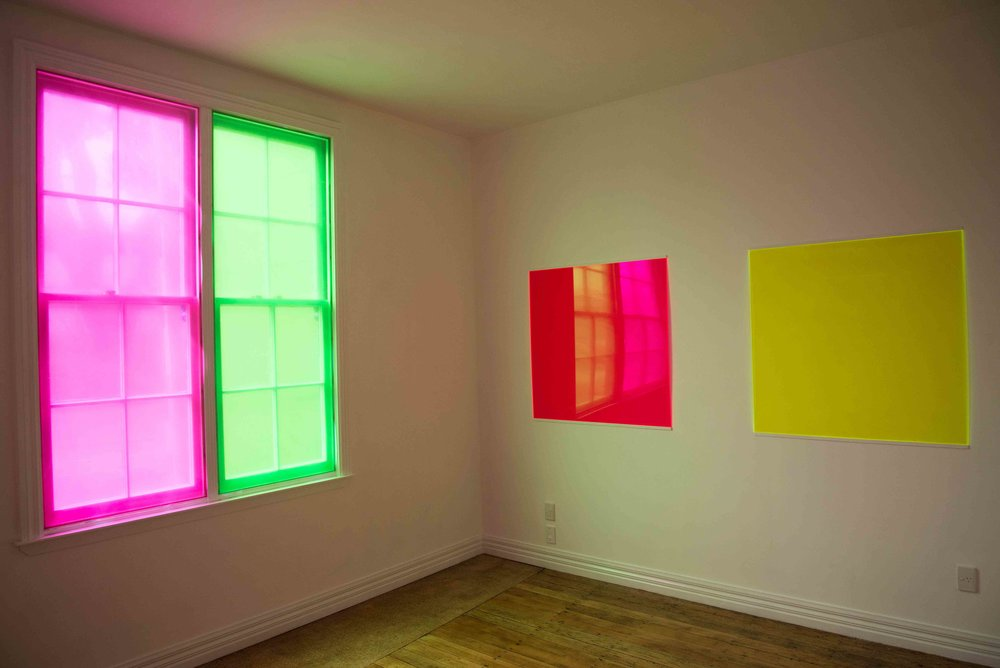 'Fluorescence' Installation view at Across the Road Gallery, 2015.