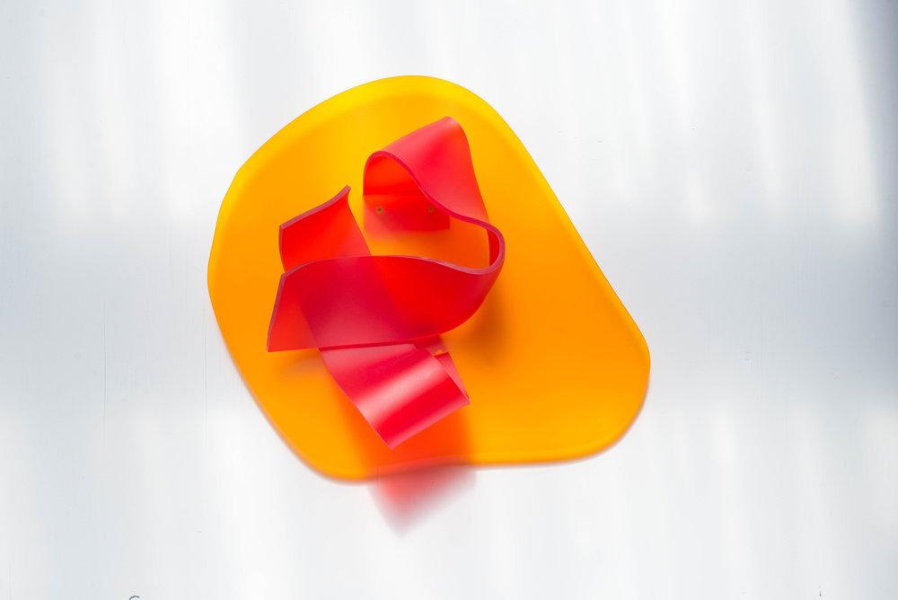 No title (Orange Red), 2017.