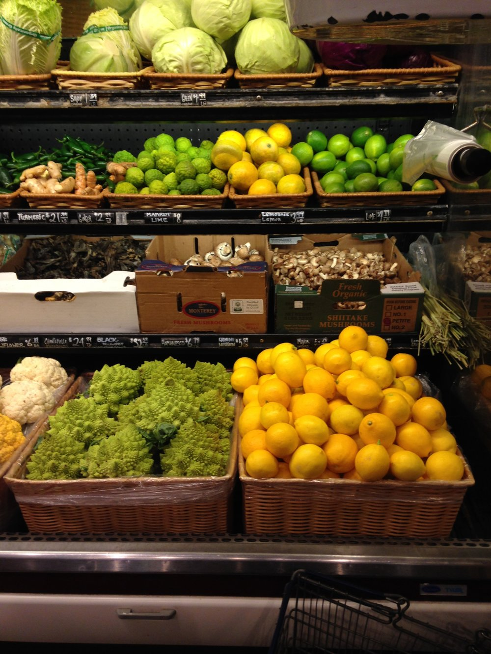 Just two colors of the rainbow of fresh produce at Hudson Greens & Goods in Napa