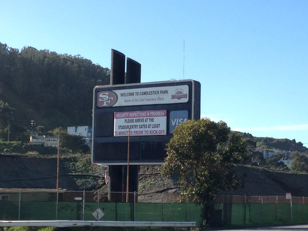 Remains of the sign from Candlestick Park, across from our RV Park