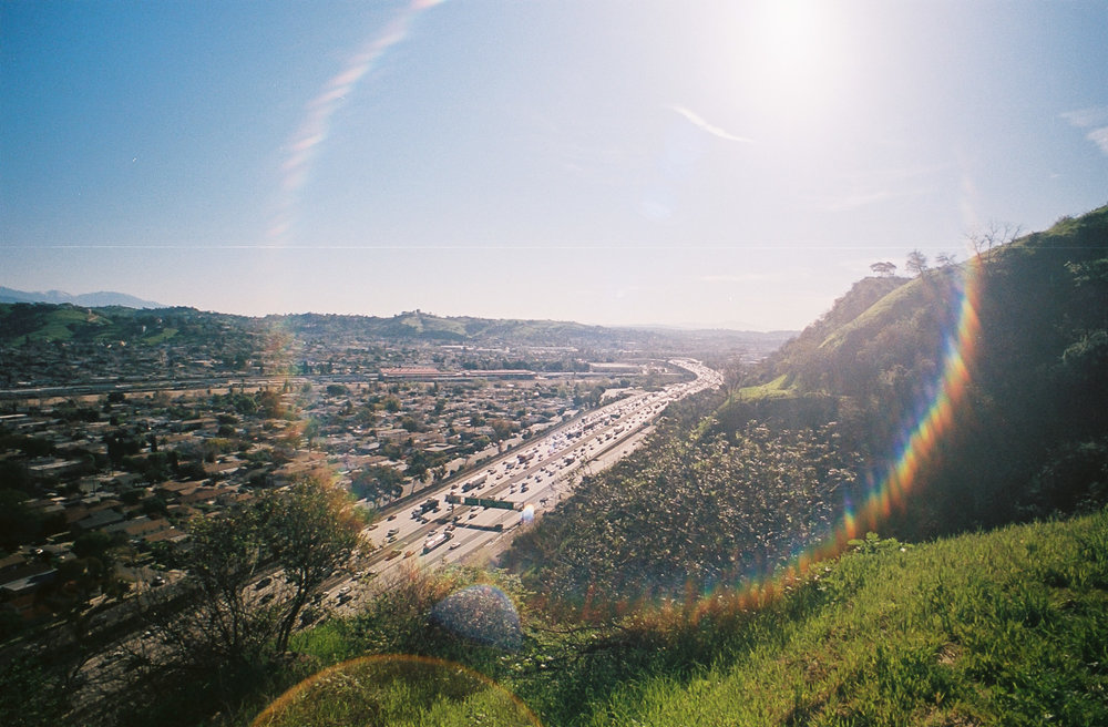 Interstate 5 as seen from the Hobo trails outside of Elysian Park