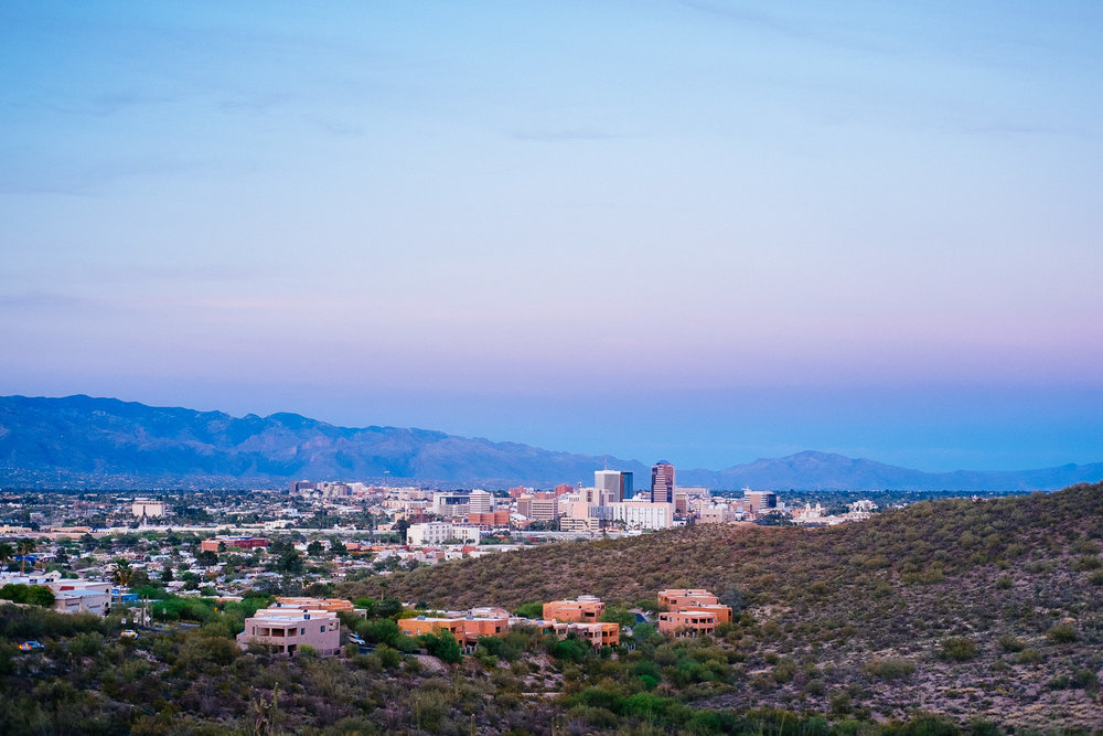 "Overview of Tucson from ""A"" mountain"