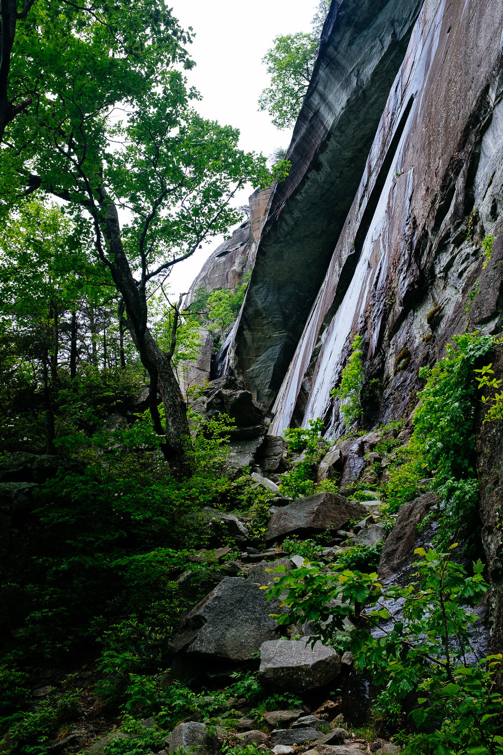 Chimney Rock State Park, North Carolina, just before a heavy downpour