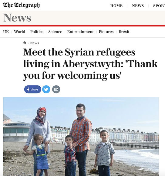 Telegraph Syrian Refugees Wales