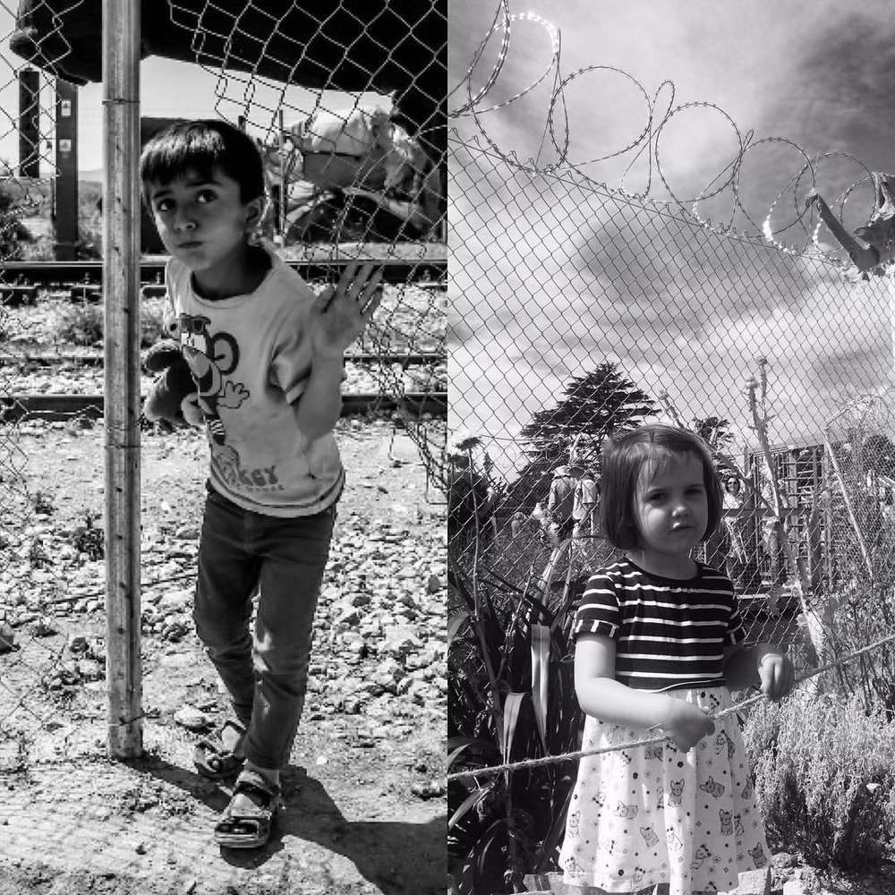 Children photographed by RefuAid Greece
