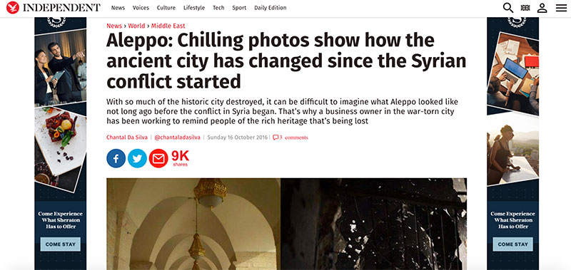 Independent news on Aleppo