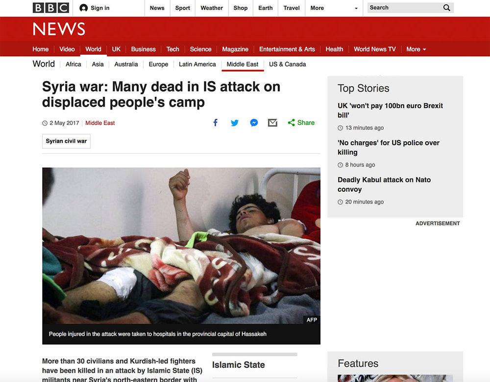 BBC Syria IS attack