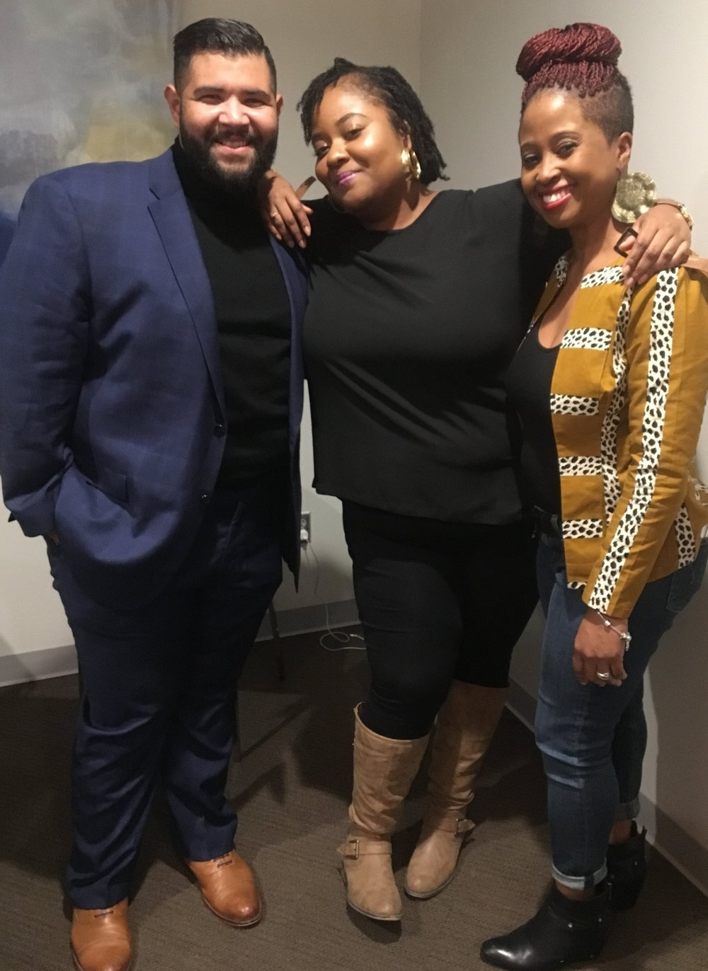 Yours Truly with Producer and Director of Goddess. From L-R: Renee Alexander (Producer)  & Tiara Luten (Writer & Director)