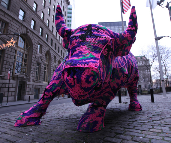 The Charging Bull in the Financial District