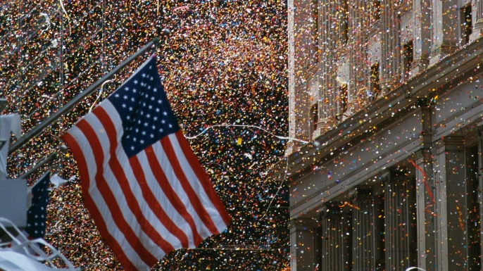 "Ticker-tape Parade up the ""Canyon of Heroes"""