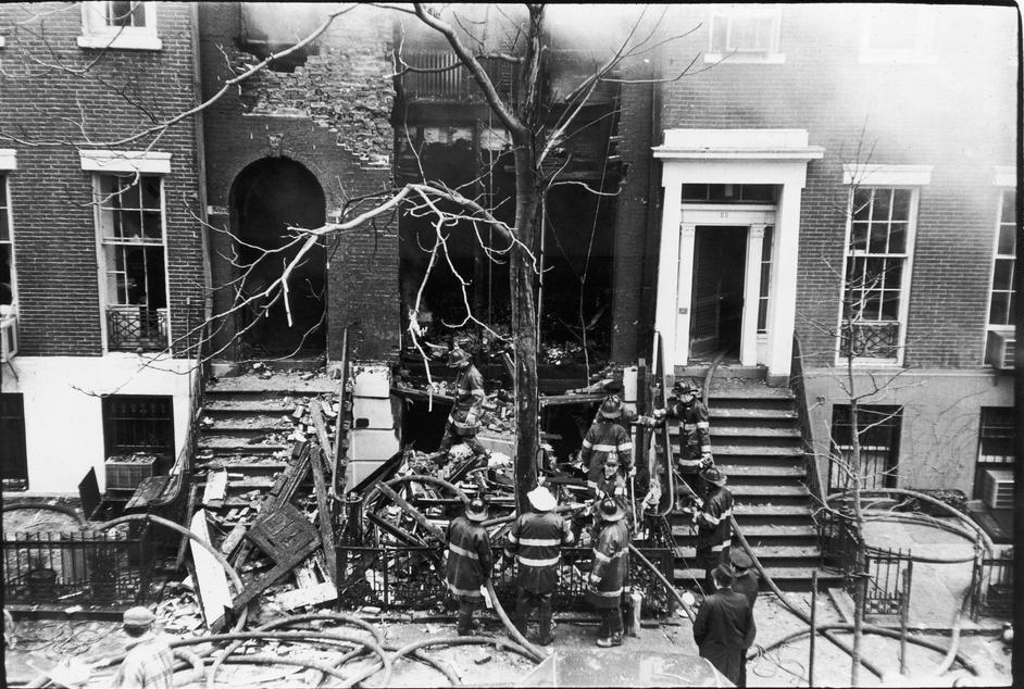 Bomb site after the Weathermen did their damage
