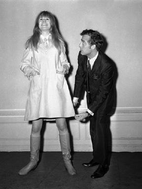 Pop singer, Marianne Faithfull, models Daniel Hechter at the French Chamber of Commerce in London, England on Jan. 19, 1967