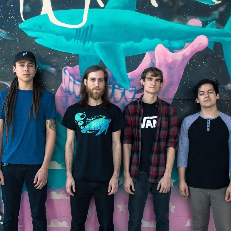 Members of band: Abram Ulve- drums;  Caleb Behm- vocals; Zane Leblanc- bass; Emilio Rendon- guitar // Photo by: Matt Bender