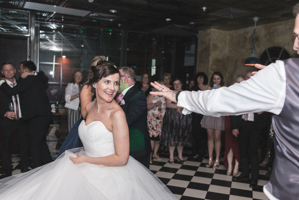 First dance in 'On the 7th' Wedding photography salford