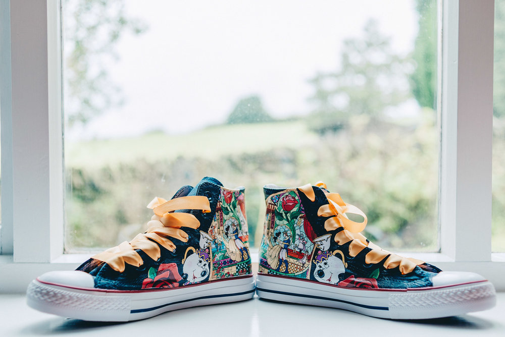 Converse shoes with disney image