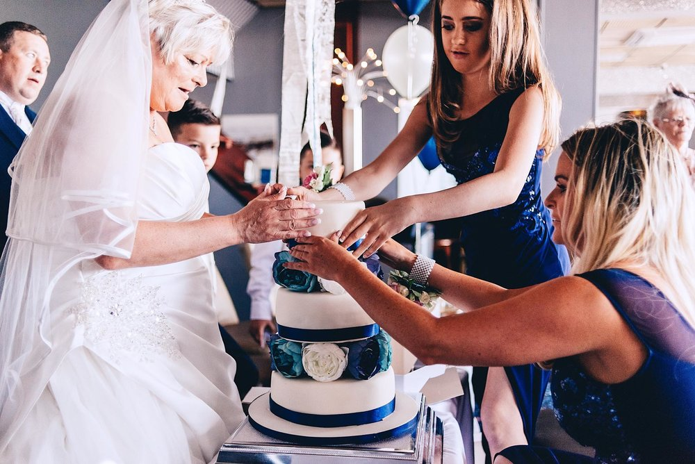 Making the wedding cake on the couples wedding day