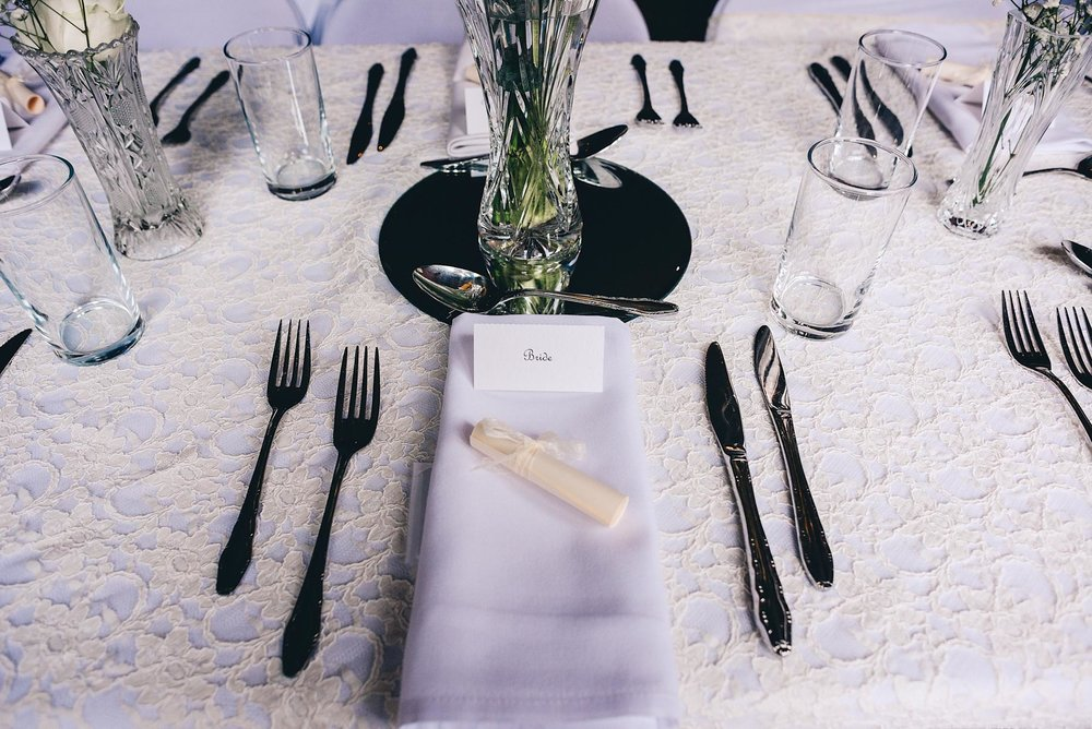 The brides place at wedding meal