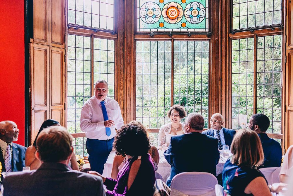 The Groom gives a speech during the meal