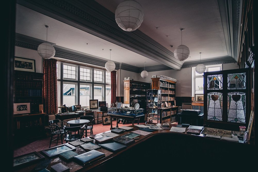 Inside the library of the Prichard Jones Institute