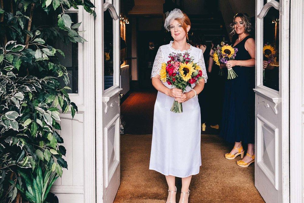 Full length shot of bride in her wedding dress