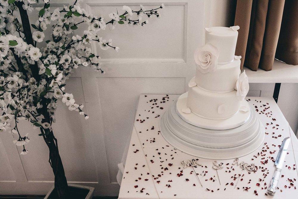 Wedding cake at Hugh Owens Hall
