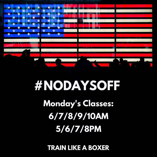 Happy long weekend everyone ! We'll be open bright and early on Presidents Day- book your classes.