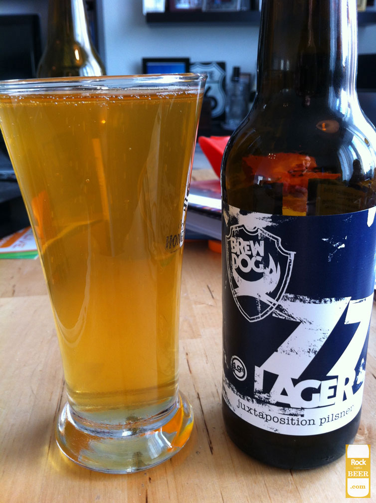 "Brew Dog 77 lager ""juxtaposition pilsner"""
