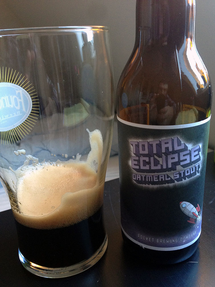 Rocket Brewing total Eclipse oatmeal Stout