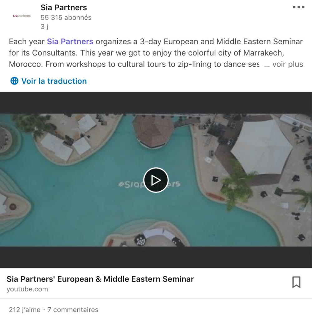 Sia Partners LinkedIn