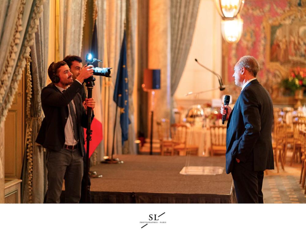 Interview de Bernard Spitz, président de la FFA  Photo : Seignette / Lafontan