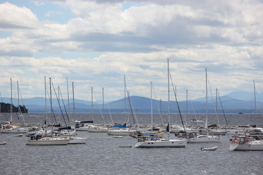 Boats on Lake Champlain