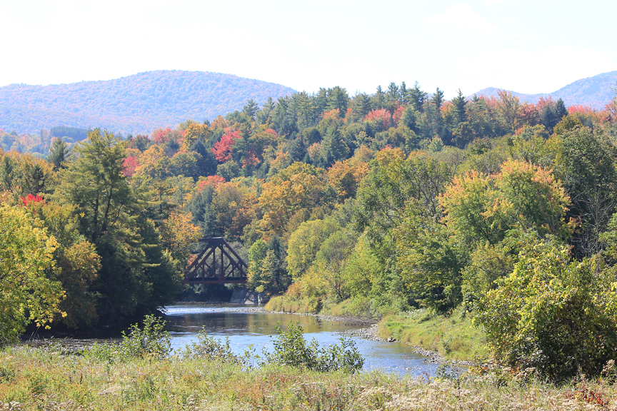 Bridge on Lamoille River, Johnson
