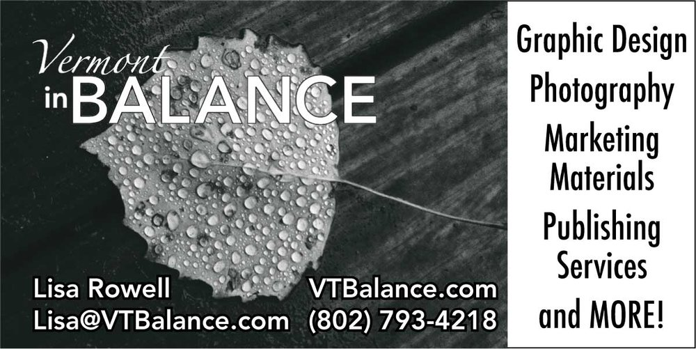 Email me to discuss your projects or ideas! Lisa@VTBalance.com