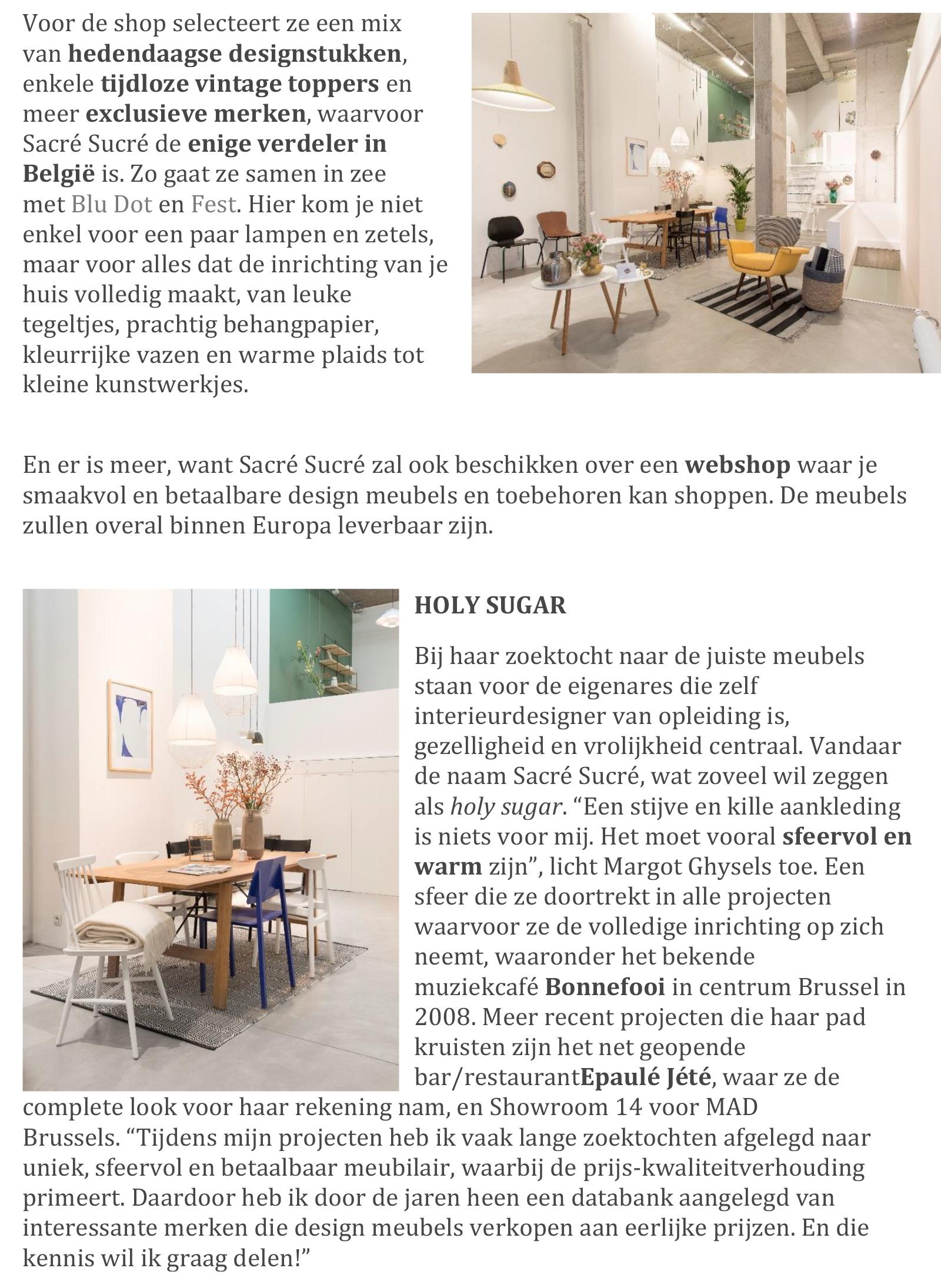 Van Til Design Meubels.Press Web Visitbrussels Sacre Sucre