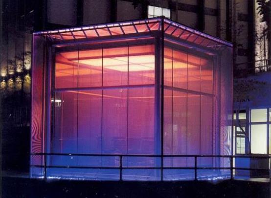 e95632a4f Vidros com cristal líquido e fototérmicos, tecidos plásticos e um sistema  de iluminação programável são apenas algumas das tecnologias utilizadas em  um dos ...