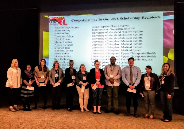 2018 Scholarship Recipients at the 2018 Spring Conference