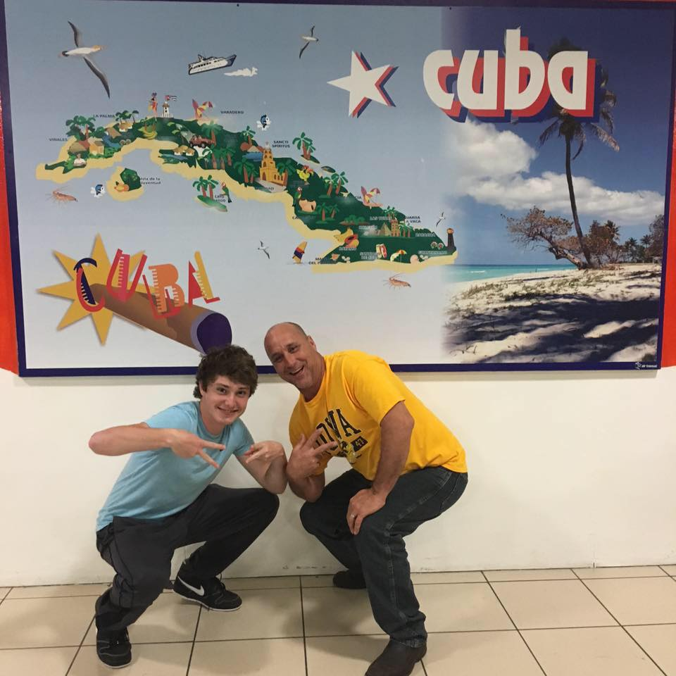 Rodger with  Noah Olson  in Cuba