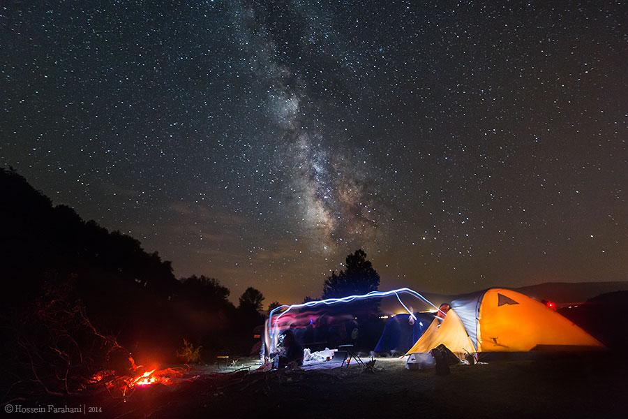 Camping in Almas