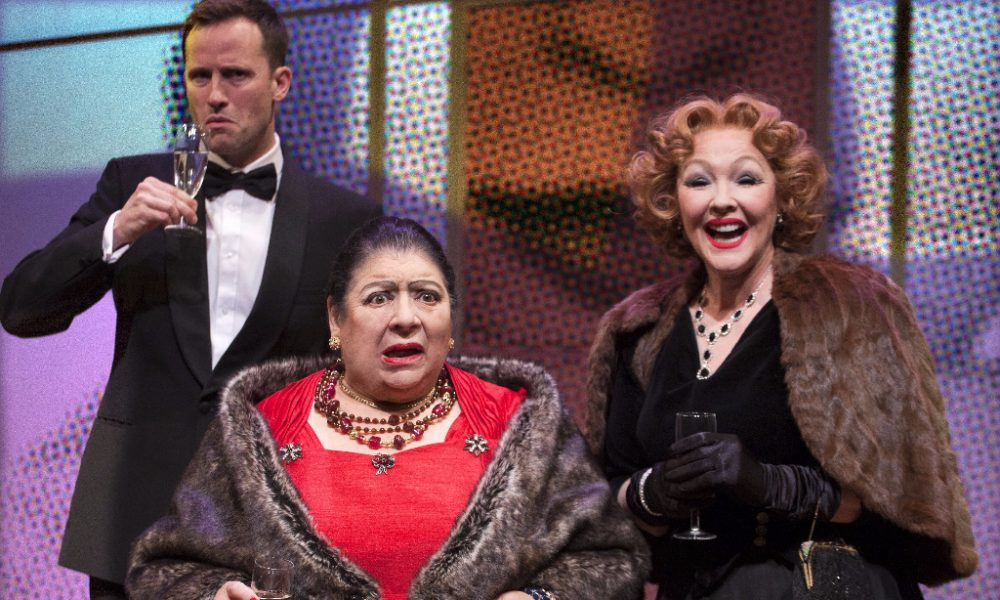 Madame Rubinstein   (L-R Jonathan Forbes, Miriam Margolyes, Frances Barber)  Photo by Simon Annand