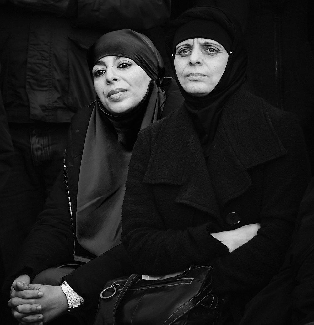 Ladies in black...