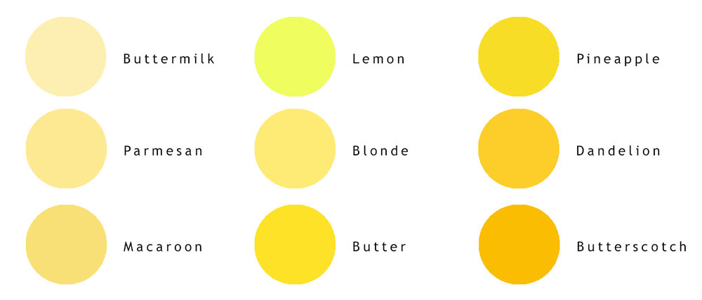 yellow variations